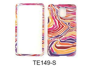 Snap-On Protector Case for Samsung Infuse 4G I997 (Red/Orange/Purple Zebra Print)