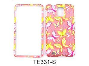 Snap-On Protector Case for Samsung Infuse 4G I997 (Trans. Design/Butterflies on Light Pink)