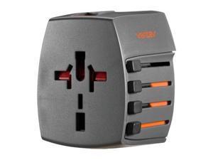 Ventev Global Charginghub 300 with 4 AC Prong Configurations with 2 USB Ports - HUB300VNV