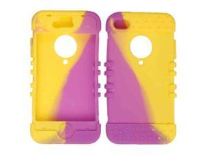 Cell Armor - Rocker Series Skin Protector Case for Apple iPhone 4 / 4S - Yellow and Purple