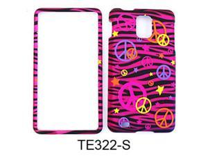 Snap-On Protector Case for Samsung Infuse 4G I997 (Trans. Design/Colorful Peace Signs on Pink Zebra)
