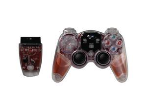 DREAMGEAR DGPN-525 PLAYSTATION 2 LAVA GLOW WIRELESS CONTROLLER (RED)