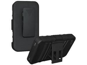 Amzer Hybrid Kickstand Case with Holster - Black