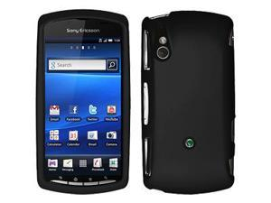 Amzer Rubberized Black Snap On Crystal Hard Case For Sony Ericsson Xperia Play,Sony Ericsson Xperia Play 4G