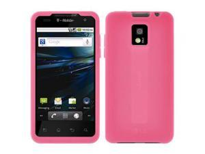 Amzer Silicone Skin Jelly Case - Baby Pink For LG G2x
