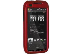 Amzer Rubberized Red Snap On Crystal Hard Case For Verizon HTC Touch Pro 2