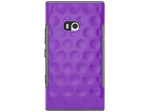 Amzer Hubble Bubble High Gloss TPU Soft Gel Skin Case - Purple For Nokia Lumia 900