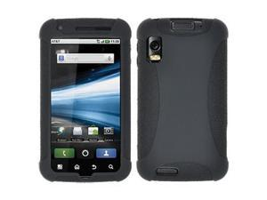 Amzer Silicone Skin Jelly Case - Black For Motorola ATRIX 4G MB860