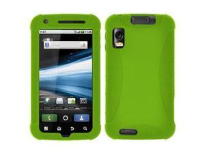 Amzer Silicone Skin Jelly Case - Green For Motorola ATRIX 4G MB860