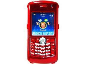 Amzer Snap On Transparent Case - Candy Apple Red For BlackBerry 8100r,BlackBerry Pearl