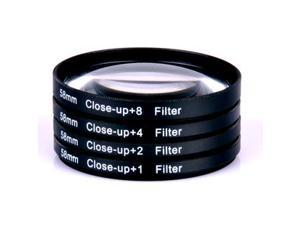 58mm Lens Filer Macro Lens Attachment for SLR Cameras 18-55mm  Zoom 5 PACK 1x+2x+4x+8x+10x