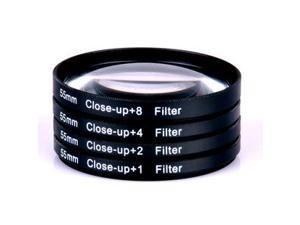 55mm Close Up Macro Lens Filter for DSLR Cameras & Accessories  Zoom 5 PACK 1x+2x+4x+8x+10x