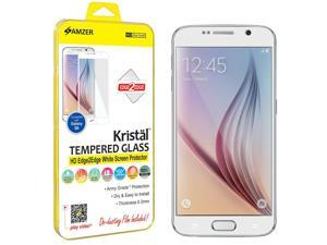 Amzer Kristal Tempered Glass HD Edge2Edge White Screen Protector for Samsung Galaxy S6 SM-G920F