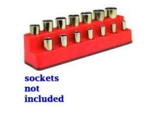 "3/8"""" Drive 14 Hole Red Impact Socket Holder"