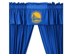 NBA Golden State Warriors Drape and Valance Set Basketball Team Logo Window Treatment