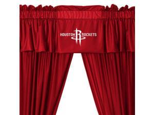 NBA Houston Rockets Drape and Valance Set Basketball Team Logo Window Treatment