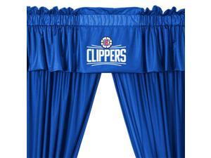 5pc NBA Los Angeles Clippers Drape and Valance Set Basketball Team Logo Window Treatment