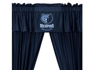 NBA Memphis Grizzlies Drape and Valance Set Basketball Team Logo Window Treatment
