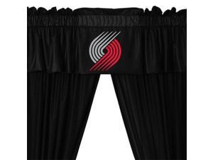 NBA Portland Trail Blazers Drape and Valance Set Basketball Team Logo Window Treatment