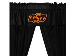 NCAA Oklahoma State Cowboys Drape and Valance Set College Team Logo Window Treatment
