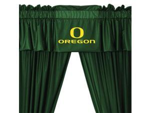 NCAA Oregon Ducks Drape and Valance Set College Team Logo Window Treatment