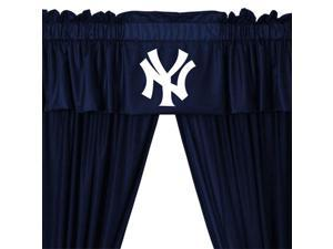 5pc MLB New York Yankees Drape and Valance Set Baseball Team NY Logo Window Treatment