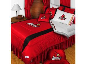 NCAA Louisville Cardinals Comforter Pillowcase College Bed