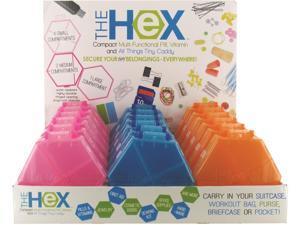 Hexagon Pill Box Case Pack 36