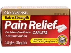 Good Sense Extra Strength Pain Relief Caplets 500 mg- 24 Ct Case Pack 24