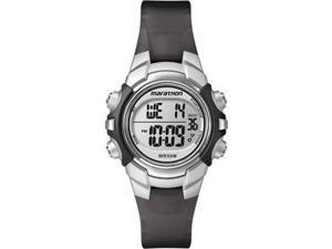 TIMEX MARATHON DIGITAL WATCH MID SIZE BLACK SILVER