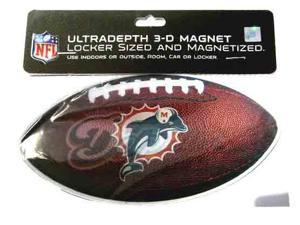 Miami Dolphins 3D Football Magnet Case Pack 72