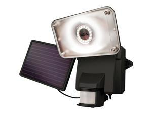 MAXSA INNOVATIONS 44641 Motion-Activated Solar LED Security Flood Light (Black)