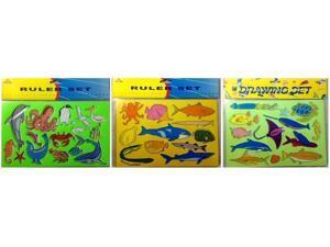 Drawing Stencil Set Sea Life Design Case Pack 48