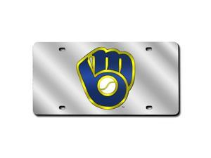 Milwaukee Brewers Laser Cut Silver License Plate