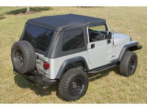 Rugged Ridge 13750.01 Sailcloth Bowless XHD Soft Top, Black, 97-06 Jeep Wrangler TJ