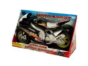 Friction Powered Toy Motorcycle with Sound & Light