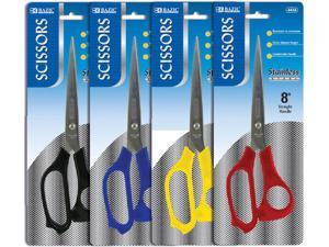 "BAZIC 8"""" Stainless Steel Scissors Case Pack 144"