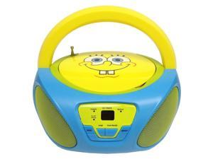 SpongeBob SquarePants Boombox CD Player AM/FM Radio W/Built in Speakers 56062GRO