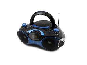 Quantum FX Radio CD/MP3 Player with USB/SD- Black/Blue