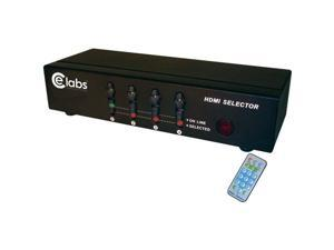 CE LABS HM41SR 4-In 1-Out HDMI Switcher with Remote