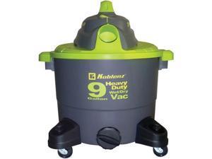 Koblenz WD-9K Vacuum Cleaner Wet/Dry W/ 9-Gallon Tank & 7 Hose