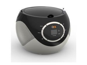 QFX Portable AM/FM CD Player J51BLK