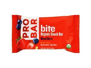 Probar Bite Organic Snack Bar - Mixed Berry - 1.62 oz Bars - Case of 12
