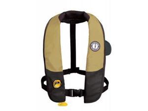 Mustang Deluxe Automatic Inflatable PFD - Tan/Black