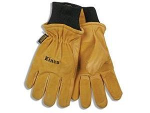 Ski Gloves, Pigskin Leather, Reinforced Palm and Fingers, Heatkeep Thermal Lining, Medium
