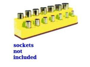 3/8 in. Drive 14 Hole Neon Yellow Impact Socket Holder