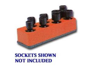 3/8 in. Drive Universal Red 8 Hole Impact Socket Holder