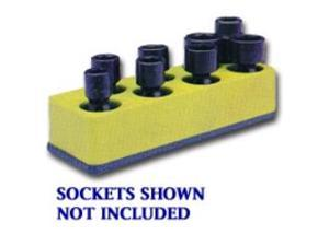 3/8 in. Drive Universal Yellow 8 Hole Impact Socket Holder