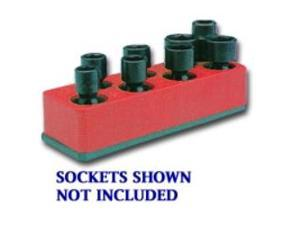 3/8 in. Drive Universal Rocket Red 8 Hole Impact Socket Holder