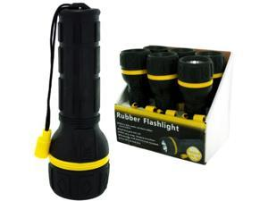 Rubber Flashlight Counter Top Display Case Pack 6
